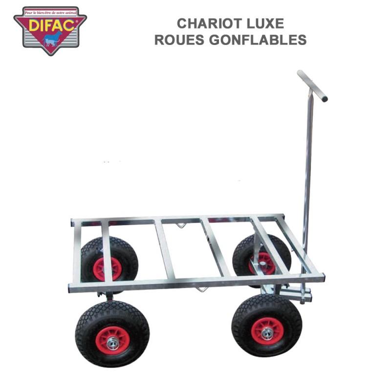 chariot luxe roues gonflables pour cage de transport animaux 340014 dc. Black Bedroom Furniture Sets. Home Design Ideas