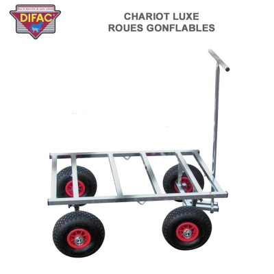 Chariot Luxe roues gonflables pour cage de transport animaux