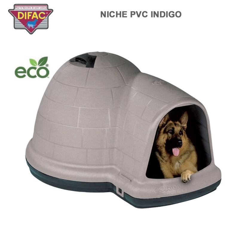 Niche pour chien plastique indigo 900197 dc for Niche exterieur chien