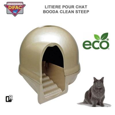 Caisse Litière pour chat Booda Clean Steep