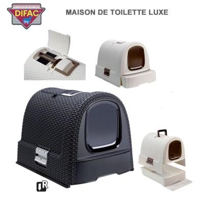 Caisse litière pour chat Toilette de Luxe coul anthracite