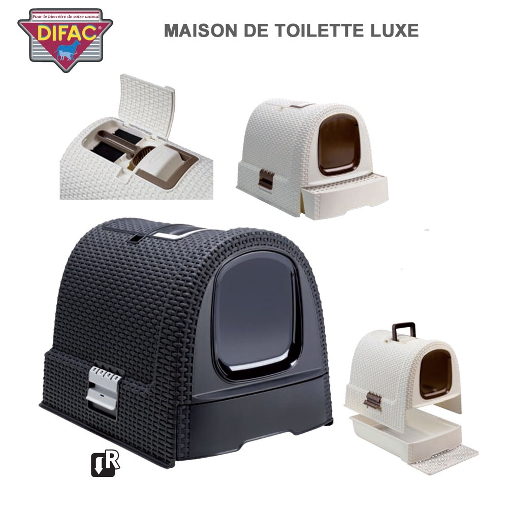 caisse liti re pour chat toilette de luxe 440485 difac. Black Bedroom Furniture Sets. Home Design Ideas