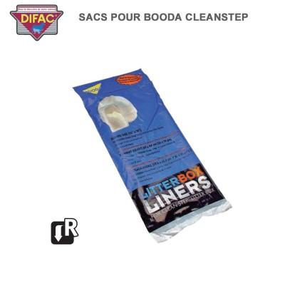 40 Sacs pour Caisse Litière Booda Clean Steep