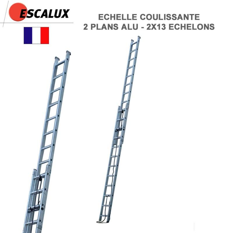 Echelle extensible double 2 plans coulissants 11 marches