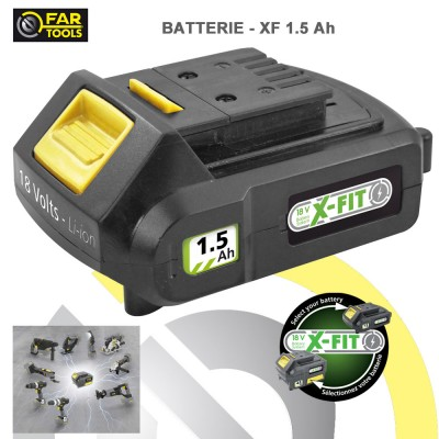 Batterie de rechange XFIT Li-ion 18 volts 1.5 AH