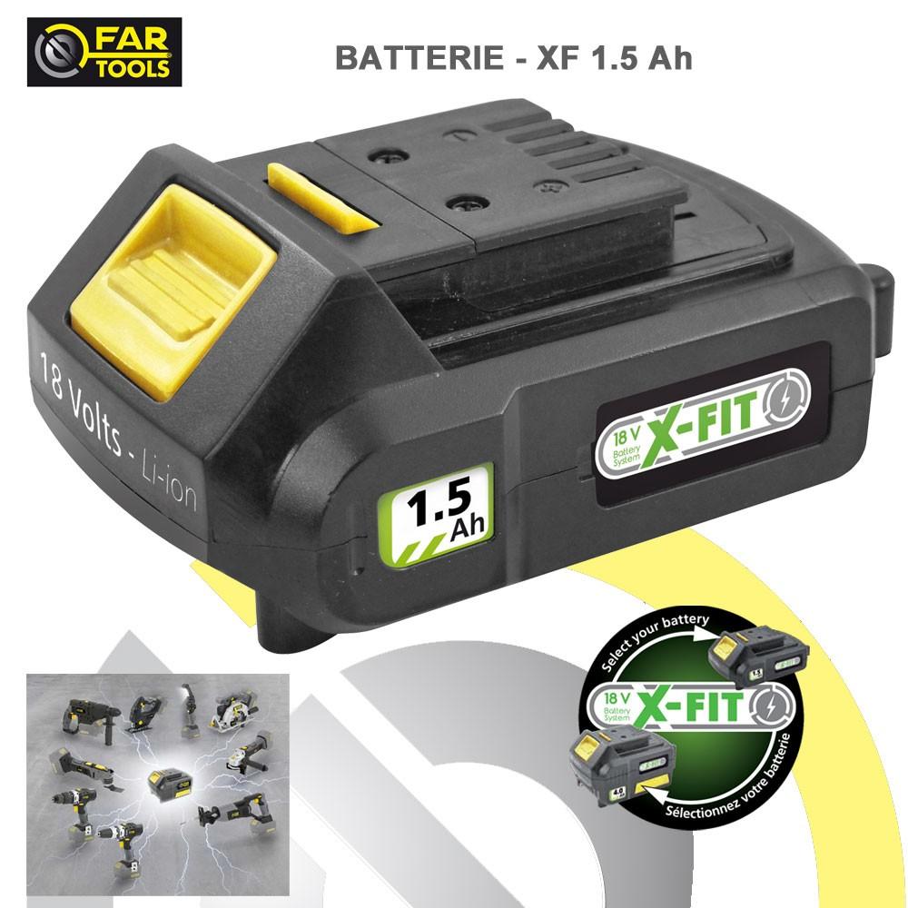 Batterie de rechange xfit li ion 18 volts 1 5 ah 216015 fartools - Parkside batterie de rechange ...