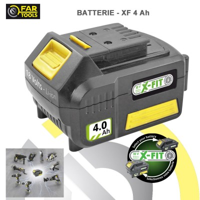 Batterie de rechange XFIT Li-ion 18 volts 4 AH