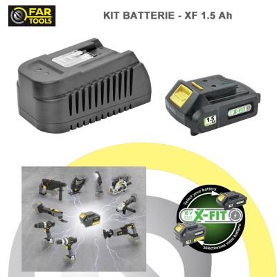 Kit batterie de rechange XFIT Li-ion 18 volts 1.5 AH