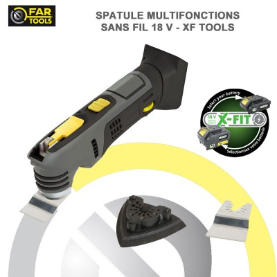 Spatule multi-fonctions sans fil 18 V X-TOOLS