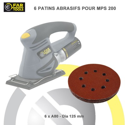 6 patins abrasifs pour ponceuse multi MPS 200 - A60