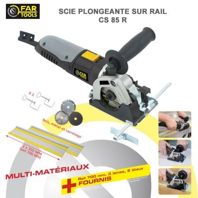 Scie circulaire multi-matériaux sur rail CS85 R