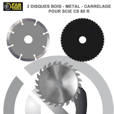 Set 3 disques pour scie sur rail CS 85 R