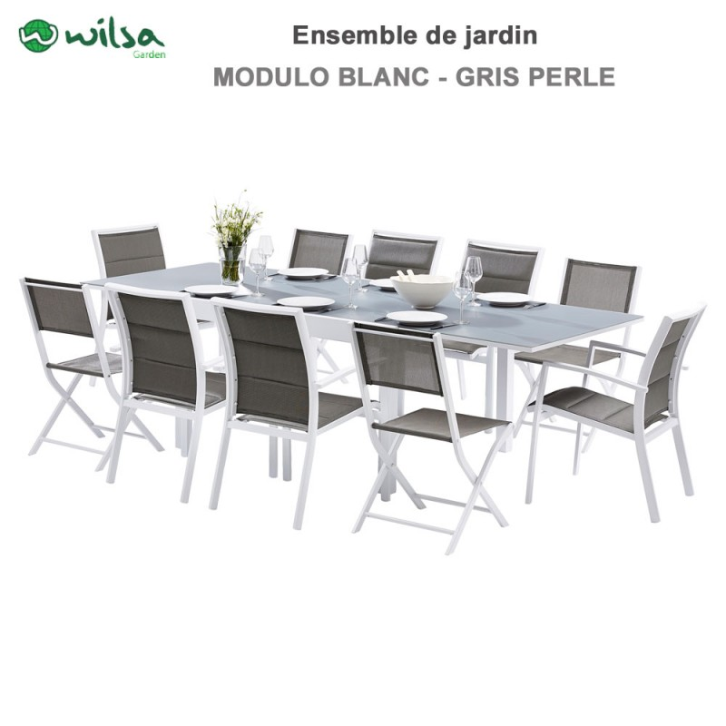 stunning salon de jardin modulo blanc pictures amazing. Black Bedroom Furniture Sets. Home Design Ideas