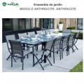 Salon de jardin Modulo 8/12 places Gris