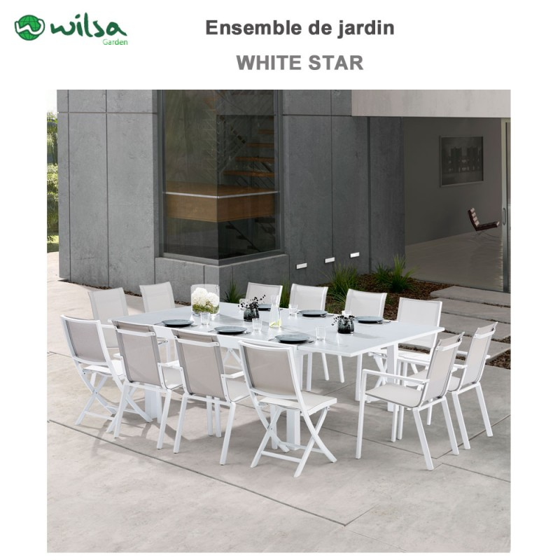 awesome table de jardin carree blanche contemporary. Black Bedroom Furniture Sets. Home Design Ideas