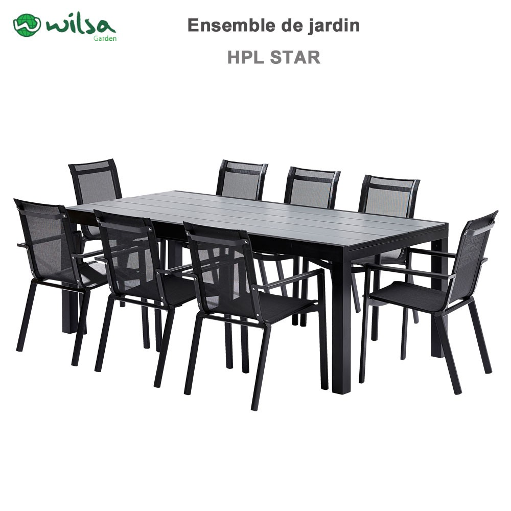 emejing table de jardin extensible hpl contemporary amazing house design. Black Bedroom Furniture Sets. Home Design Ideas