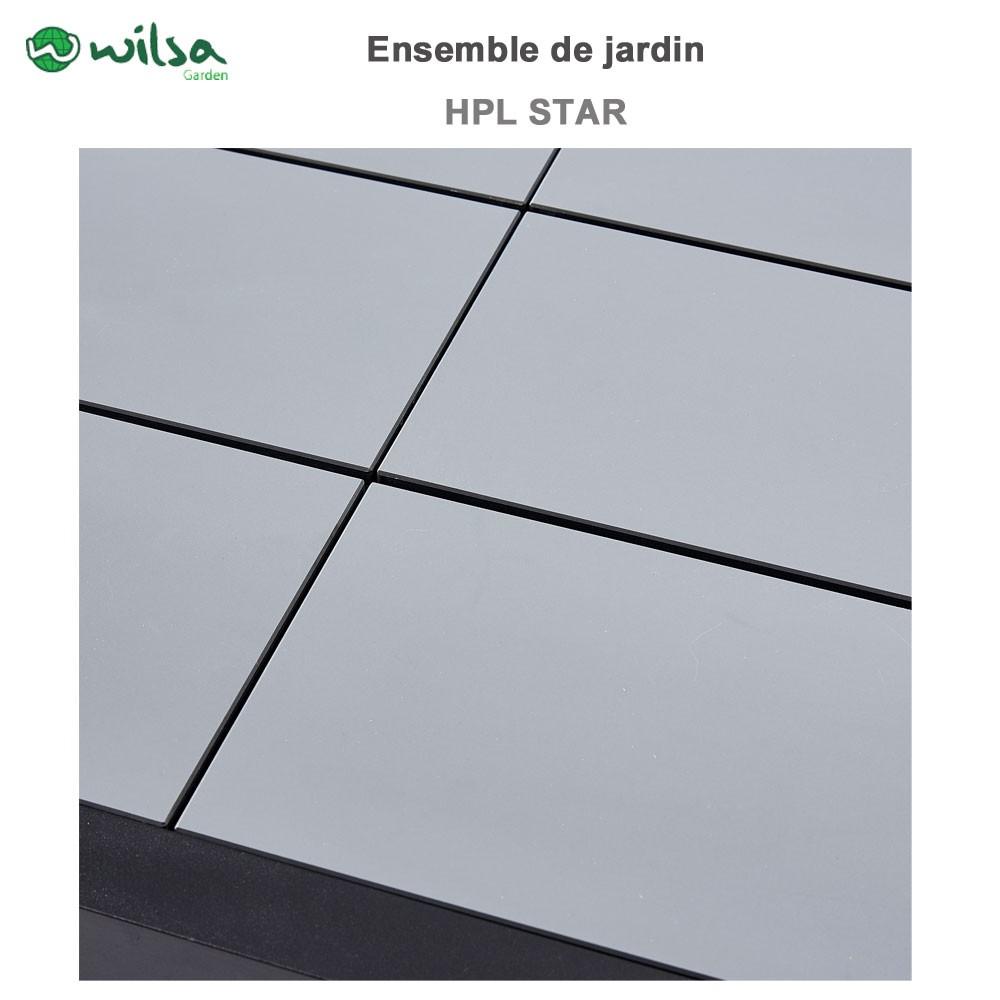 Salon De Jardin Hpl Star Noir 12 Places Noir603920 Wilsa Garden  # Salon De Jardin Plateau Hpl