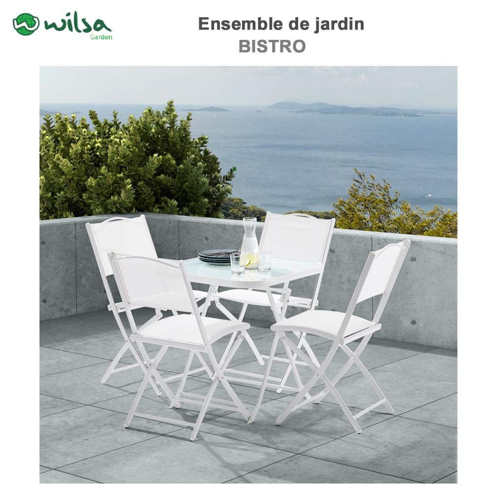 4 Blanc Terrasse Salon Places De Jardin CWxBorde