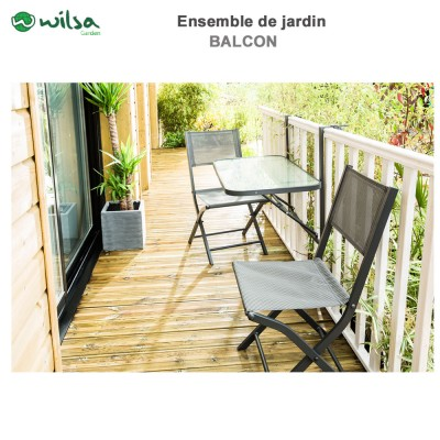 mobilier de jardin balcon 2 places anthracite600102 wilsa garden. Black Bedroom Furniture Sets. Home Design Ideas
