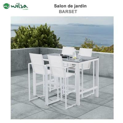 Salon de jardin en alumium clic discount - Mobilier de jardin discount ...