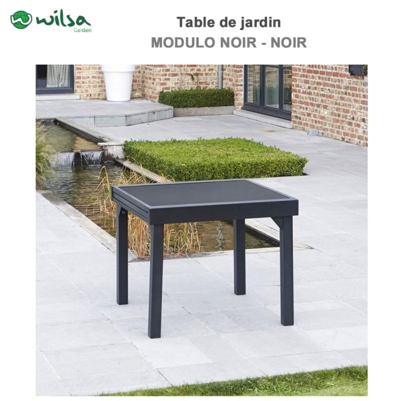 table de jardin modulo 4 8 places noir600011 wilsa garden. Black Bedroom Furniture Sets. Home Design Ideas