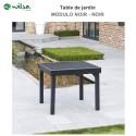 Table de jardin Modulo 4/8 places noir