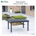 Table de jardin Modulo 6/10 places noir