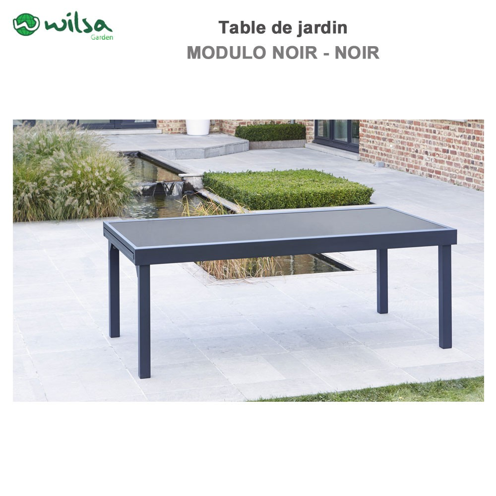 Table de jardin modulo 8 12 places noir602630 wilsa garden - Table de jardin discount ...