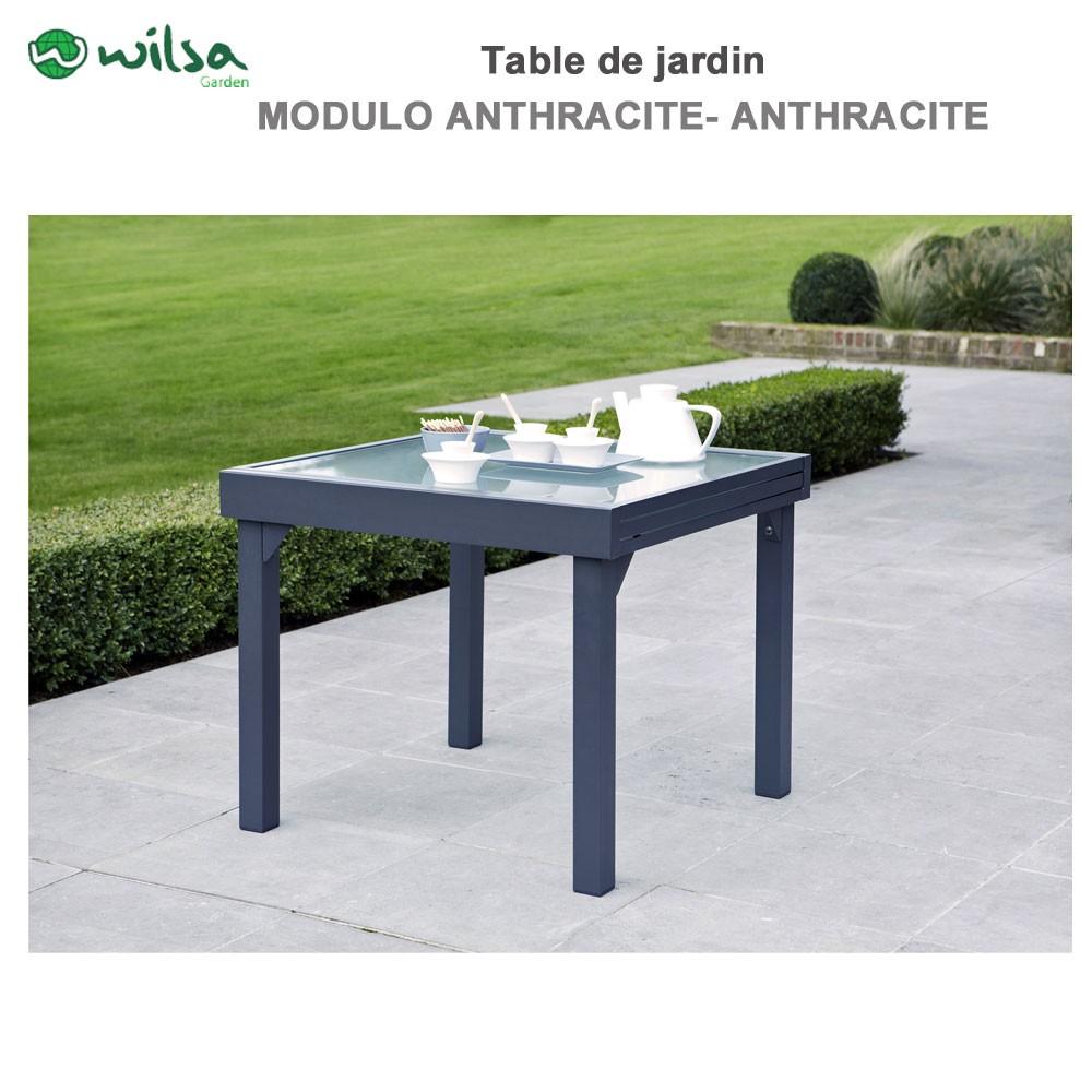 Table de jardin Modulo 4/8 places grise