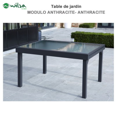 Table de jardin Modulo 6/10 places Grise