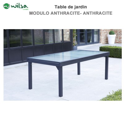 Table de jardin Modulo 8/12 places Grise