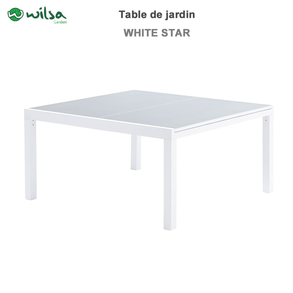Table de jardin whitestar carr 8 12 places603090 wilsa for Table de jardin carre