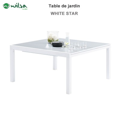 Table de jardin Whitestar Carré 8/12 places