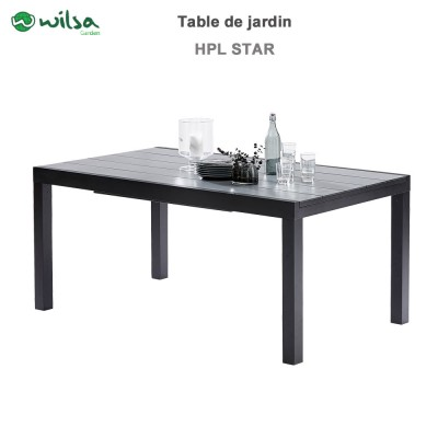 Table de jardin HPL Star noir 6/10 places