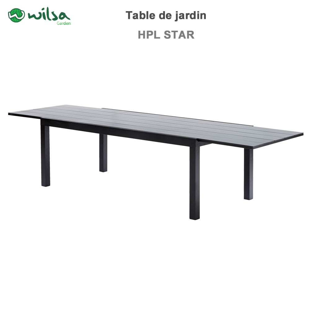 Table De Jardin Hpl Star Noir 8 12 Places