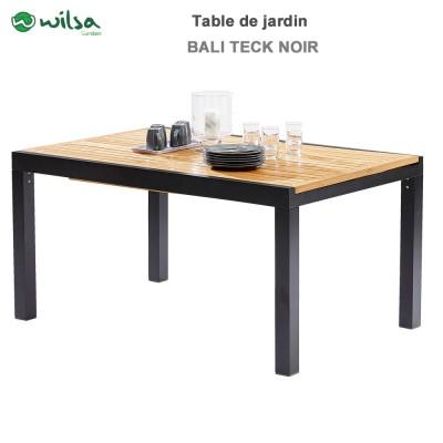 table de jardin bali teck noir 6 10 places603052 wilsa garden. Black Bedroom Furniture Sets. Home Design Ideas