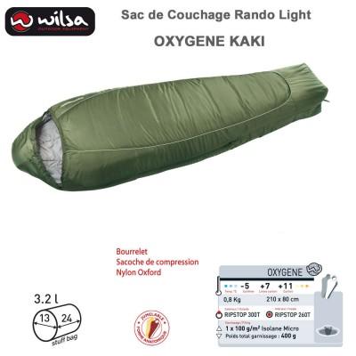 Sac de couchage Jumelable Light Oxygène Kaki 210