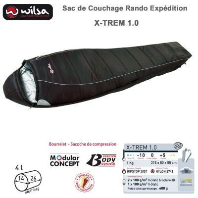 Sac de couchage jumelable grand froid expédition X-TREM 1.0 - 215