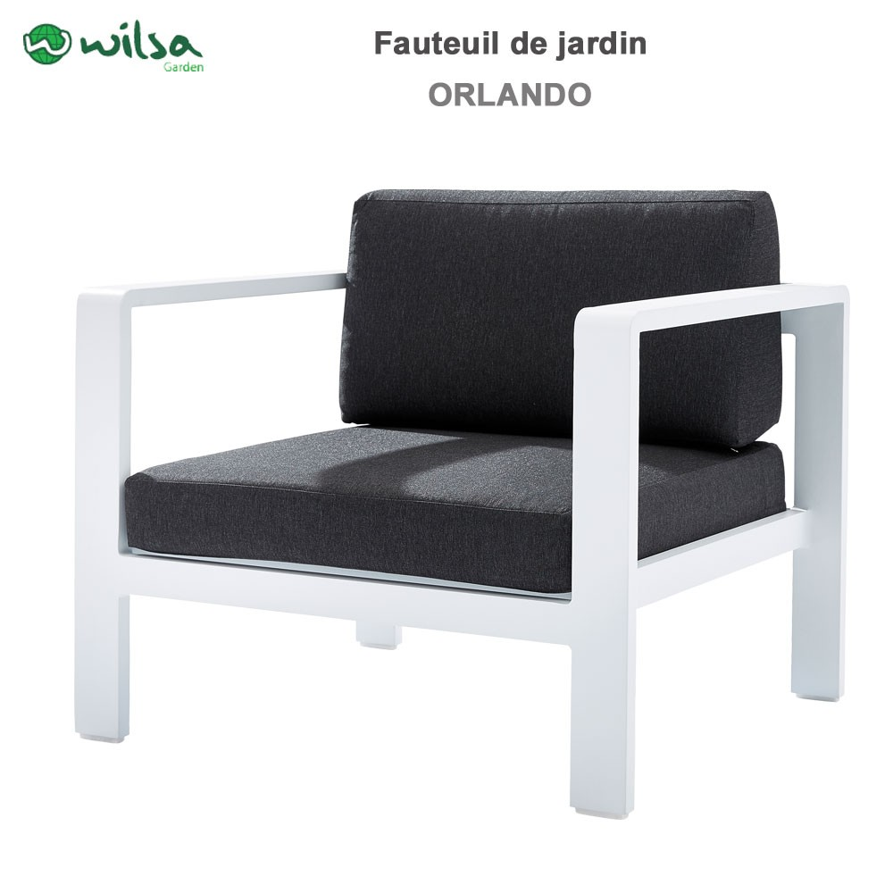 fauteuil de jardin orlando blanc. Black Bedroom Furniture Sets. Home Design Ideas