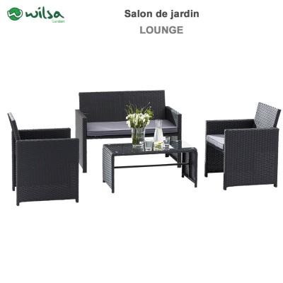 Salon De Jardin Java Anthracite 4 Wilsa Garden