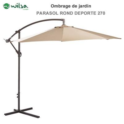 Parasol rond déporté 270 cm