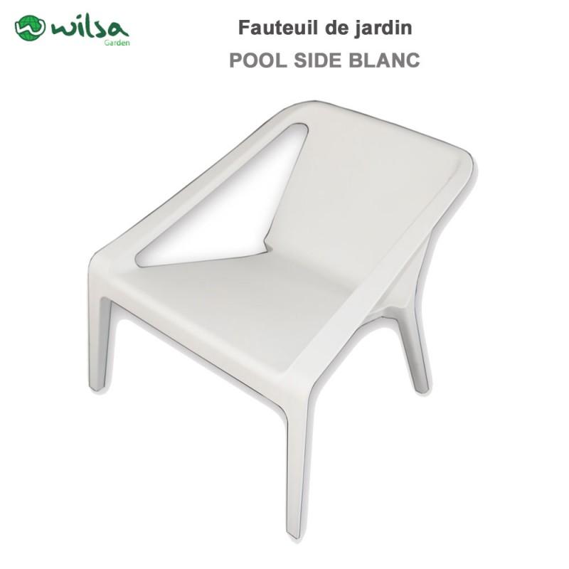Fauteuil de jardin pool side blanc602290 wilsa garden - Fauteuil de jardin blanc ...