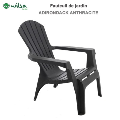 Fauteuil Adirondack Anthracite