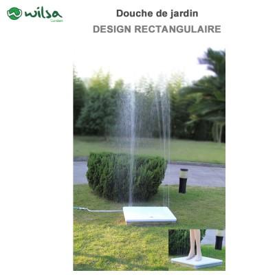 Douche de jardin Design rectangulaire