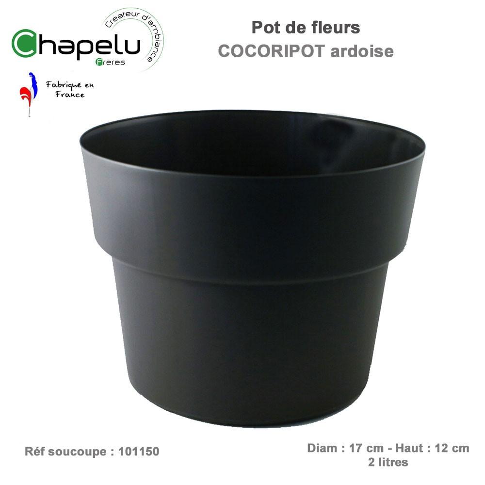 pot de fleur rond cocoripot diam 17 cm 1001721691 chapelu. Black Bedroom Furniture Sets. Home Design Ideas