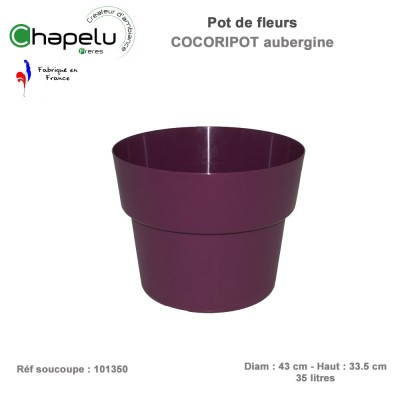 soucoupe pour pot de fleur rond cocoricot diam 43 cm. Black Bedroom Furniture Sets. Home Design Ideas