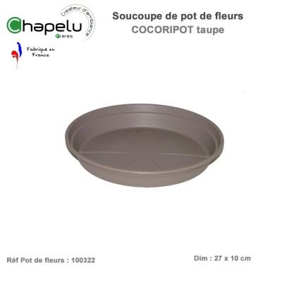 Soucoupe pour pot de fleur rond Cocoripot 32 cm