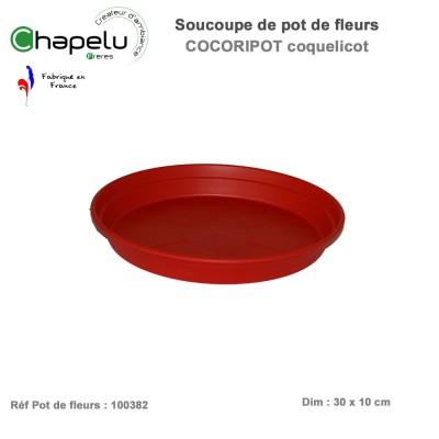 Soucoupe pour pot de fleur rond Cocoripot 38 cm