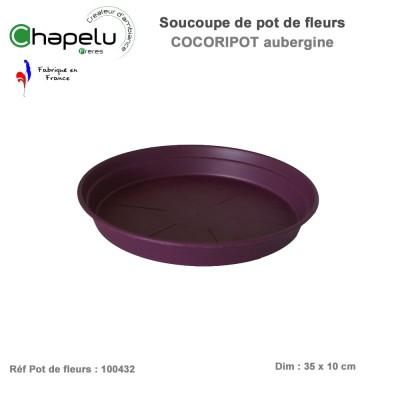 Soucoupe pour pot de fleur rond Cocoricot Diam 43 cm