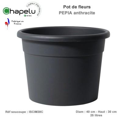 Pot de fleur rond Pépia Diam 40 cm